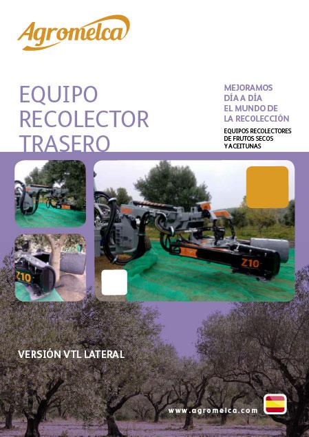 recolectores vibradores de almendras, aceitunas y frutos secos trasero para vehículos especiales