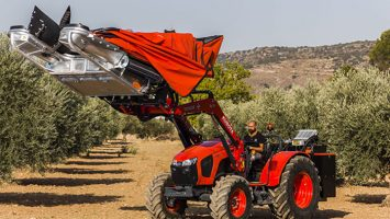 Recolección de almendras, aceitunas y frutos secos recolector delantero VERSIÓN TRV